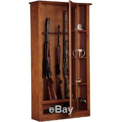 10-Gun Adjustable Rifle Shotgun Cabinet Storage Security Locker System Gun Safe