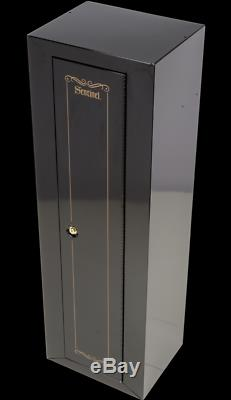 10-Gun Security Cabinet Rifle Safe Padded Storage With 3-Point Locking System