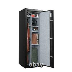 14 Gun Ammo Fire Safe Cabinet Storage Rifles Firearms Electronic Security Vault