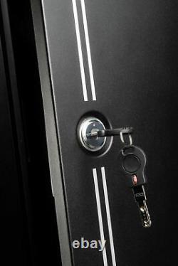 14 Gun Storage Cabinet with Ammo Can Rifle Shotgun Firearm Security Safe Black