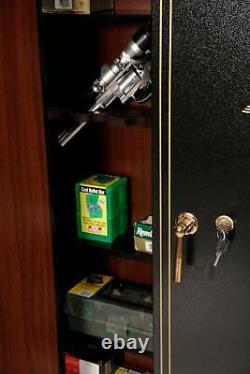 16 Gun Metal Cabinet Firearm Storage Security Rifle Safety Shotgun Lock Box New