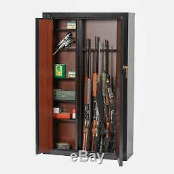 16 Gun Security Cabinet Stack on Rifle Safe Storage Locker Shotgun Firearm Lock