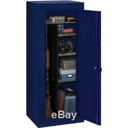 18-Gun Safe Cabinet Rifles Storage Locker Shelf Rack Firearm Steel Key Code Lock
