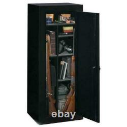 18 Gun Storage Cabinet Steel Rifle Shotgun Firearm Security Safe with Lock Black