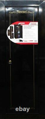18-Gun Storage Locker Steel Security Cabinet Rifle Firearms Safe Organizer
