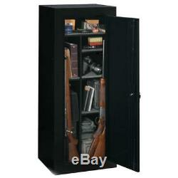 18 Rifles Gun Cabinet Storage Locker Shelf Rack Safe Shotgun Firearm Pistol Lock
