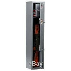 2 Gun Rifle Shotgun Storage Steel Lockable Cabinet Security Metal Safe 3.28 ft