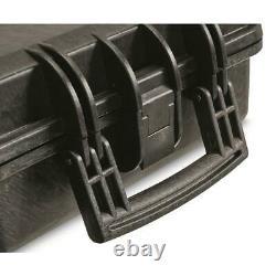 2 Gun Storage Double Carry Rifle Hard Case Wheels Padded Waterproof Lock Box (1)