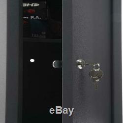 2-Lock Gun Rifle Shotgun Metal Security Cabinet Safe Storage with Handgun Shelf