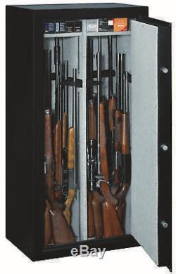 22-Gun Electronic Digital Lock Large Steel Security Rifle Storage Cabinet Safe