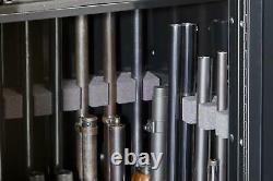 22 Gun Lock Security Safe Rifle Cabinet Pistol Shotgun Firearm Storage Black