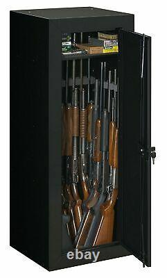 22-Gun Locking Security Rifle Shotgun Storage Cabinet Firearm Key Lock Safe NEW