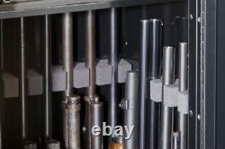 22-Gun Steel Gun Security Cabinet Locker Storage Rifle Safe withPortable Gun Case