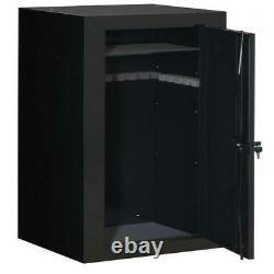 22-Gun Steel Safe Lock & Key Storage Shelf Foam Padding with Bonus Portable Case