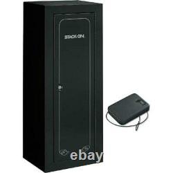 22 Gun Storage Cabinet Steel Rifle Shotgun Firearm Security Safe with Lock Black