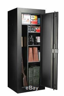 24-Gun Fully Convertible Steel Gun Security Cabinet Locker Storage Rifle Safe