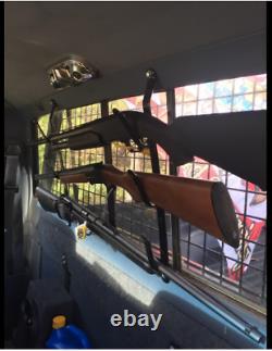3 Tier Gun Rack Rifle Hanger Truck Rear Window Locking Utility Mount Wall Store