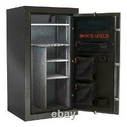 30-Gun Fire/Waterproof Safe with Electronic Lock, Door Storage, Steel-Reinforced
