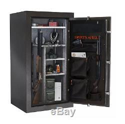 30-Gun Fire/Waterproof Safe with Electronic Lock Door Storage Steel-Reinforced