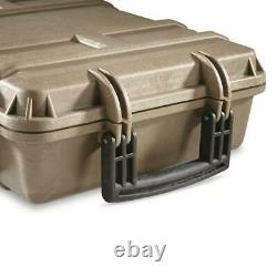 40 in. Tactical Hard Rifle Carry Case Scoped Gun Waterproof Storage Box WithWheels