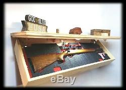 42 Stain Yourself Hidden Gun Storage Shelf Secret Concealment Cabinet Safe
