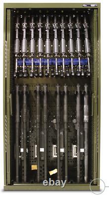 42x16x45 SpaceSaver MILITARY WEAPONS RIFLE RACK CABINET SAFE GUN STORAGE
