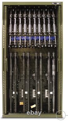42x16x61 SpaceSaver MILITARY WEAPONS RIFLE RACK CABINET SAFE GUN STORAGE