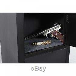 5-Gun Metal Security Locker Rifle Cabinet with Separate Pistol/Ammo Storage Shelf