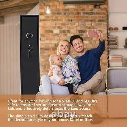 5 Gun Rifle Storage Fingerprint Digital keypad Lock Safe Gun Cabinet 54 inch