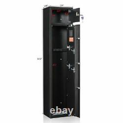 5 Gun Rifle Storage Safe Box Biometric Electronic Firearm Steel Security Cabinet