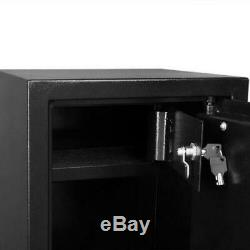 5 Gun Rifle Storage Wall Safe Box Security Electronic Dual Lock Steel 57 Black