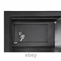 5 Gun Storage Cabinet Steel Rifle Shotgun Firearm Electronic Security Safe Lock