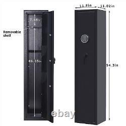 5 Rifle & 2 Pistol Gun Safe Storage Cabinet with Digital Keypad Lock Security