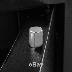 5-Rifle Firearm Storage Cabinet Digital Gun Safe Box Black