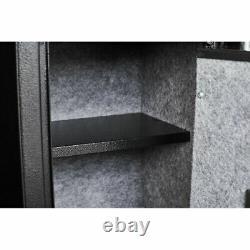 5 Rifle Gun Safe Storage Biometric Fingerprint Pistol Security Cabinet Firearm