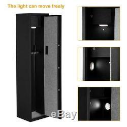 5 Rifle Gun Storage Safe Electronic Cabinet Fingerprint Keyboard Firearm Steel