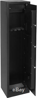 5 Rifle Gun Storage Safe Electronic Lock Cabinet Lockbox Case Fire Arm Steel
