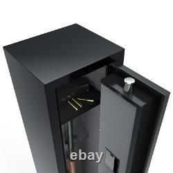 52'' Biometric Fingerprint Rifle Gun Safe Steel Firearm Storage Security Cabinet