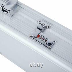 53 Arms Gun Case Hard Shell Rifle Scope Storage Safe Box Locking Suitcase + Key