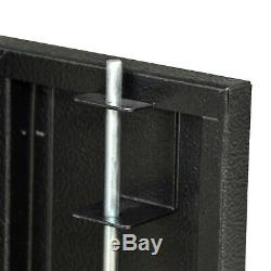 6 Gun Security Cabinet Rifle and Shotgun Storage, Steel 55 X 13-1/2 X 10-1/2