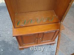 61639 Solid Maple Gun Rifle Storage Display Cabinet with Drawer and Lock