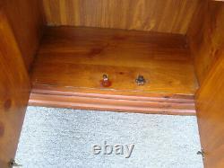 61957 Pair Pulaski Pine Gun Rifle Storage Cabinets Display Cases
