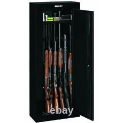 8-GUN SECURITY STORAGE CABINET Three Point Locking Safe Black Steel 55