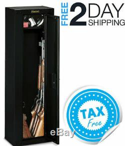 8 Gun Safe Cabinet Rifles Shotguns Pistols Security Storage Locker Shelf Rack