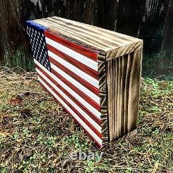 American Flag Concealment Cabinet Secret Hidden Storage Box Gun Box Document Box