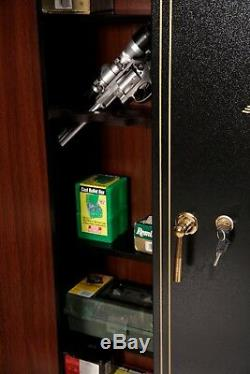 American Furniture 16 Gun Security Cabinet Metal Key Lock Rifle Storage Safe NEW