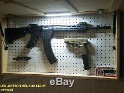 American USA Flag Unstained Concealment Cabinet Hidden Secret Gun Rack Storage