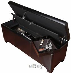 Bed Bench Storage Low Large Hidden Gun Safe Concealed Fireproof Locking Pistols