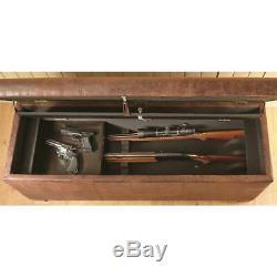 Bench Gun Safe up to 5 Rifles Concealment Trunk Chest Key-Lockable Storage Lock