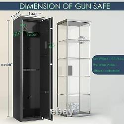 Biometric Rifle Quick Access Fingerprint Cabinet Steel Electronic 5 Gun Storage
